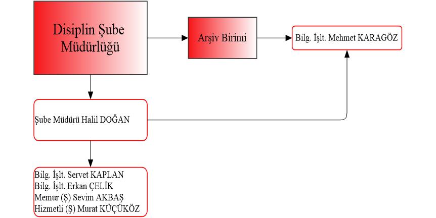 Disiplin Şube Müdürlüğü Organizasyon Şeması